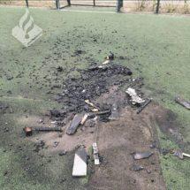 Cruyff Court & Scooter Damaged By Arson