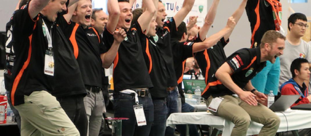 TU/e Students win World Championships robot football again