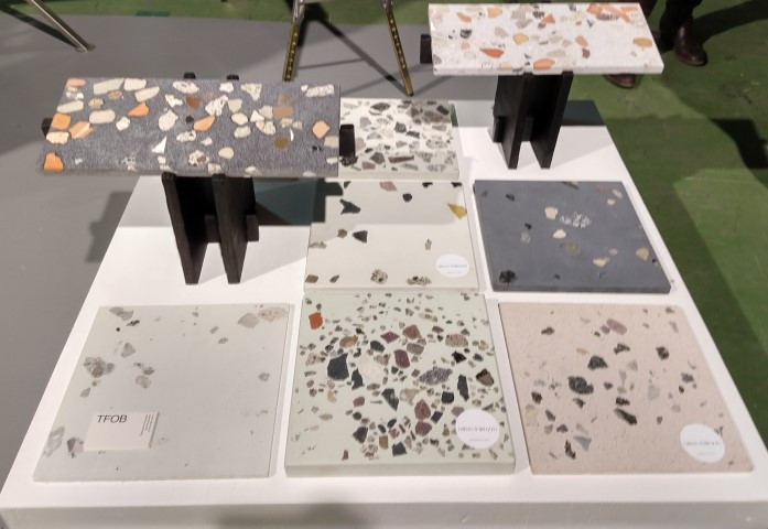 Tiles exposed at the DDW18 from Urban Terrazzo