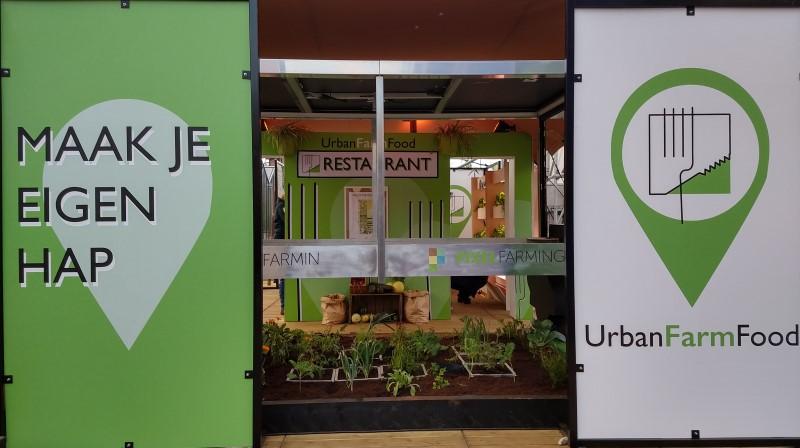 Urban farming stand from UrbanFarmFood at DW18