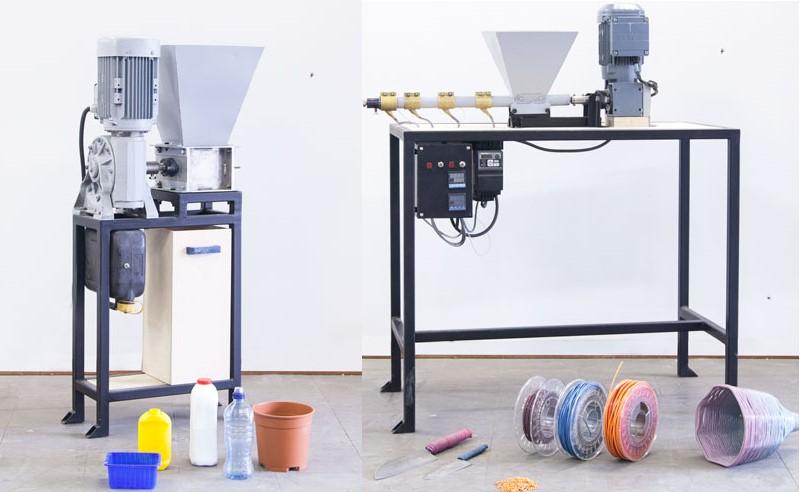 Shredder and extruder machines