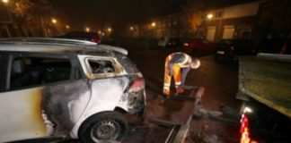 car on fire, steenbokstraat, no one injured.