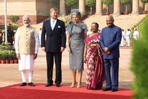Indo dutch Trade summit; Welcome ceremony;