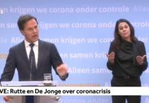 Press conference 15 April - Rutte and De Jonge
