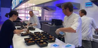 Top chefs preparing meals for health care workers