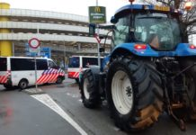 men arrested after farmer's protest