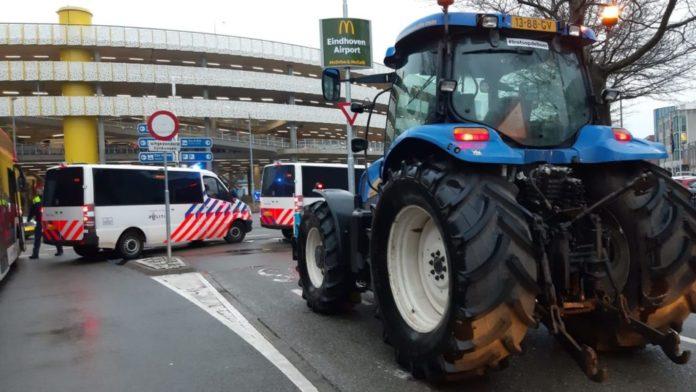 men arrested after farmer's protest