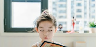 chinese, reading, child, book