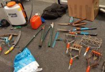 police find stolen Garden tools