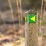 Visit Brabant walking route network direction sign