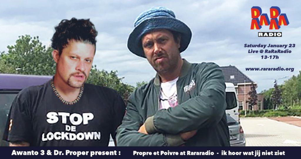 Awanto 3 & Dr. San Proper live @ RaRaRadio this Saturday afternoon