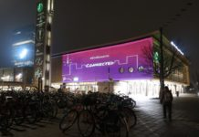 Students light up Eindhoven Station