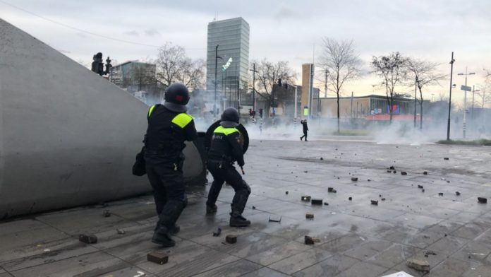 Riot police in Eindhoven