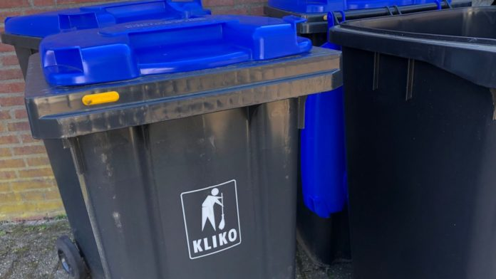 Blue Garbage bin for Eindhoven residents