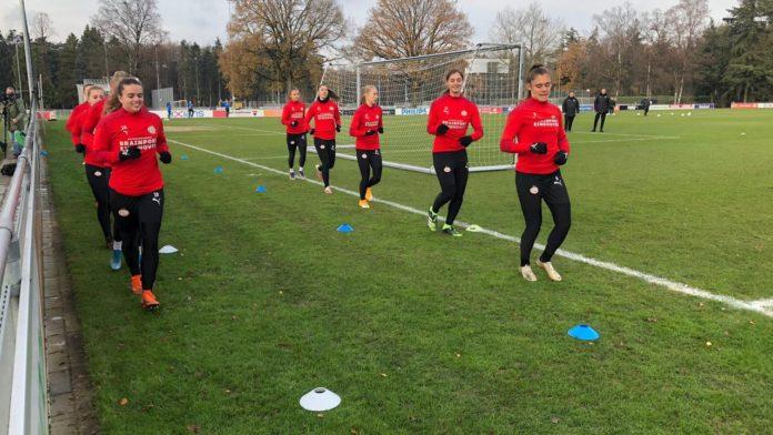 PSV Women team in Quarantaine