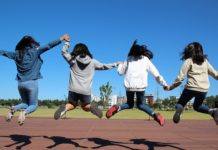 kids jumping